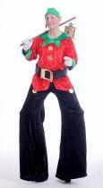 Stelzengeher Weihnachtself